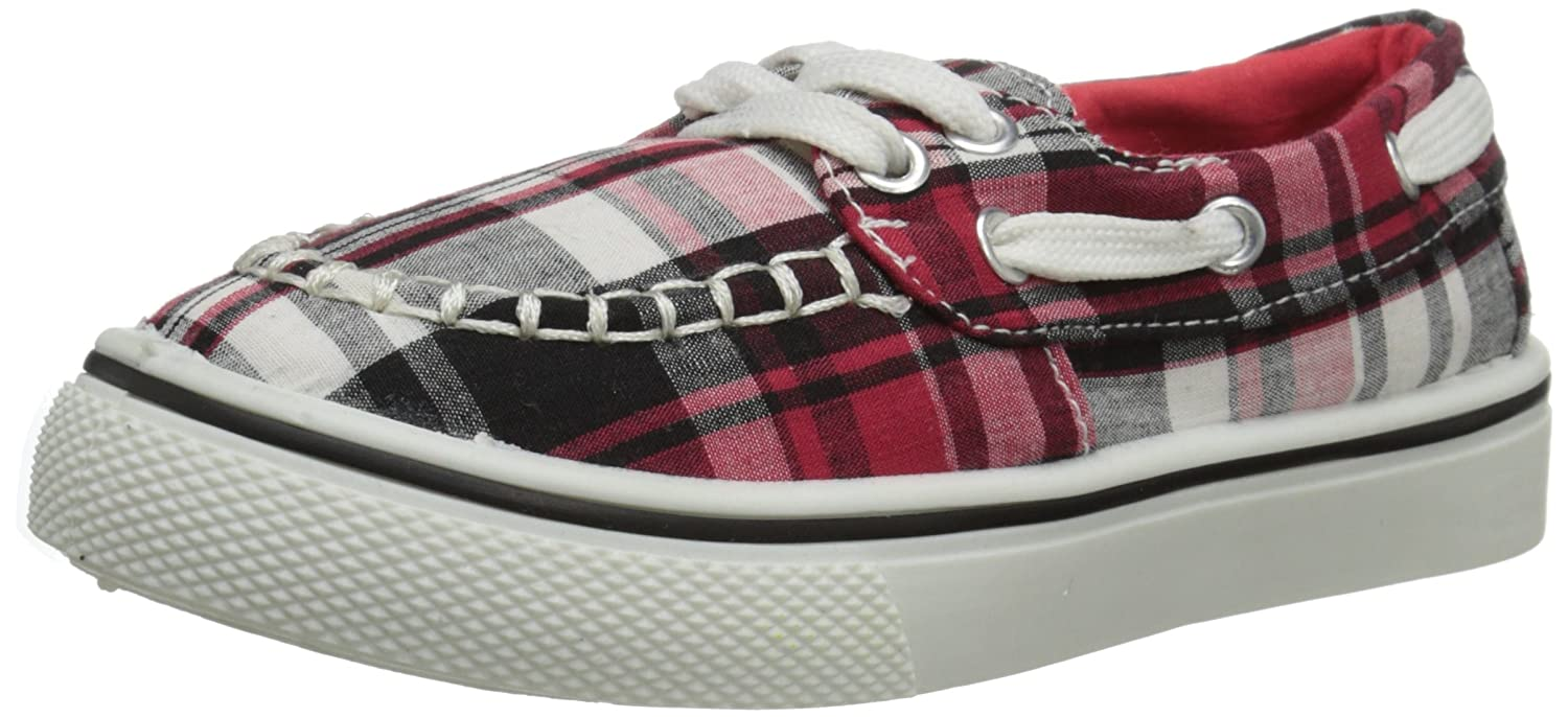 Kaymann Toddler Boat Shoe RED PLAID 9 M US Dawgs PodAcpPy
