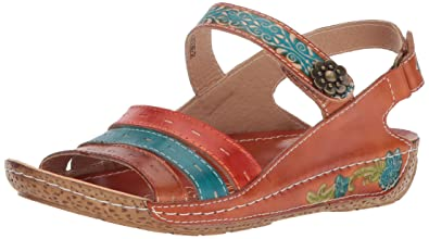 d4dd000d53 L'Artiste by Spring Step Women's Style Kerry Camel EURO Size 35 Leather  Slide Sandal