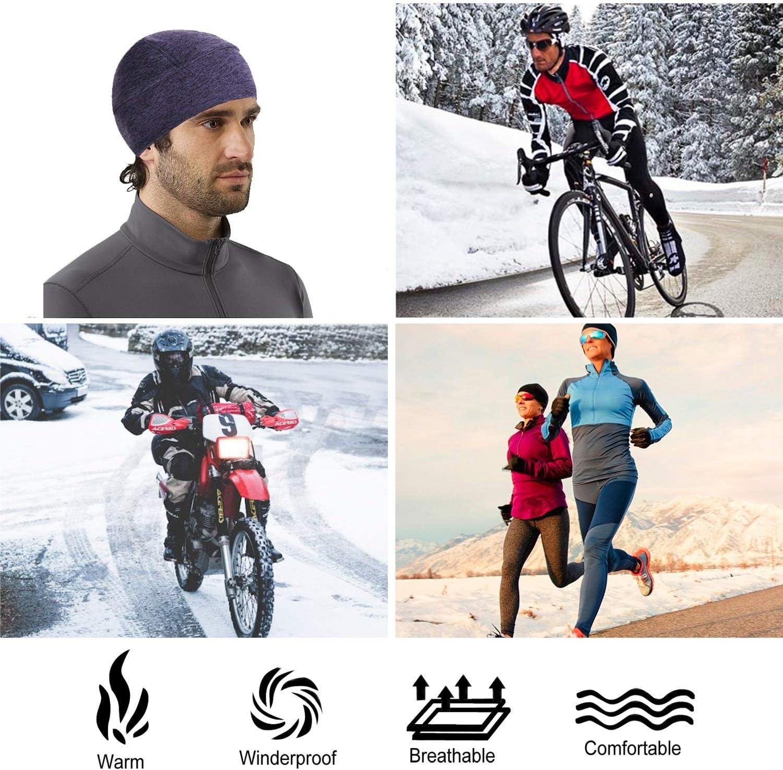 Gorro de Ciclismo,de Bicicleta Gorro T/érmico Resistente al Viento,Forro Polar de Invierno Gorro de Sombrero con Tapas de Orejas KONVINIT Gorro T/érmico para Casco Tapa del cr/áneo