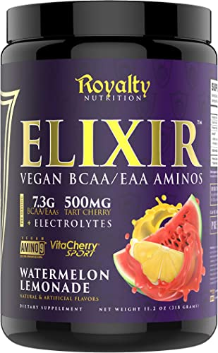 Elixir Vegan BCAA w Essential Amino Acids, Watermelon Lemonade, 30 Servings