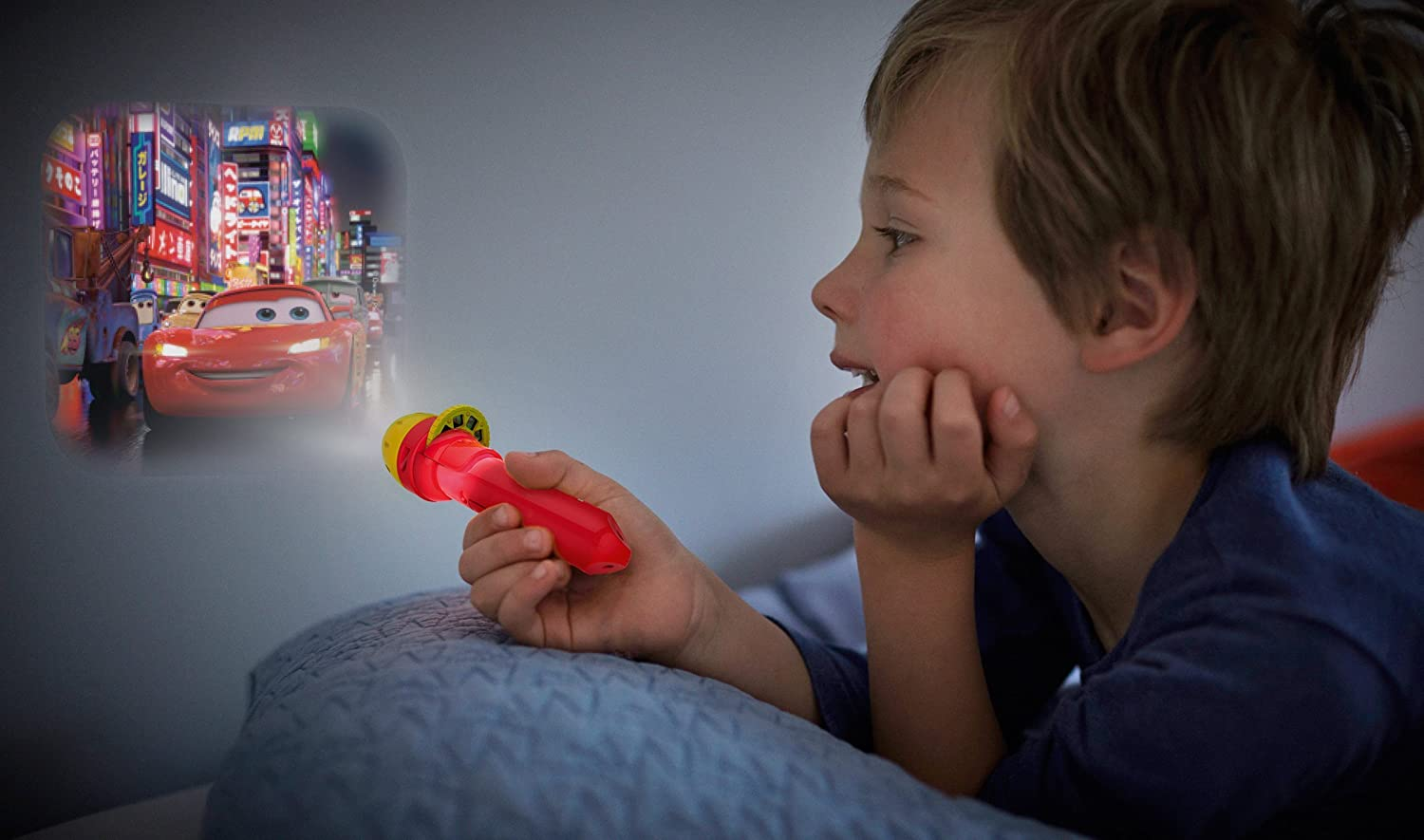 Philips Disney Cars LED Taschenlampe mit Projektor rot 717883216
