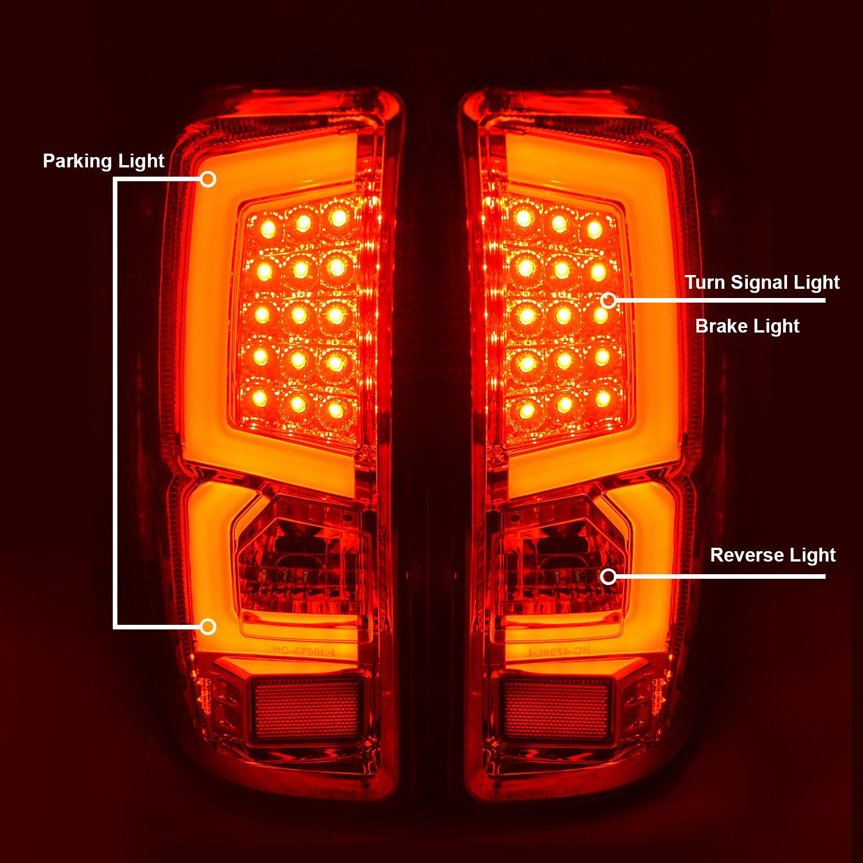 07 09 Chevy Silverado Pickup Truck Smoke Led Tail Brake 98 Gmc Light Wiring Lamp C Streak Bar Lights Automotive