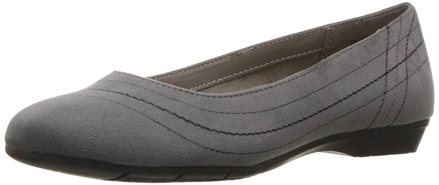 Aerosoles Women's Rite on Ballet Flat B06Y63K1CJ 10.5 B(M) US|Grey Fabric