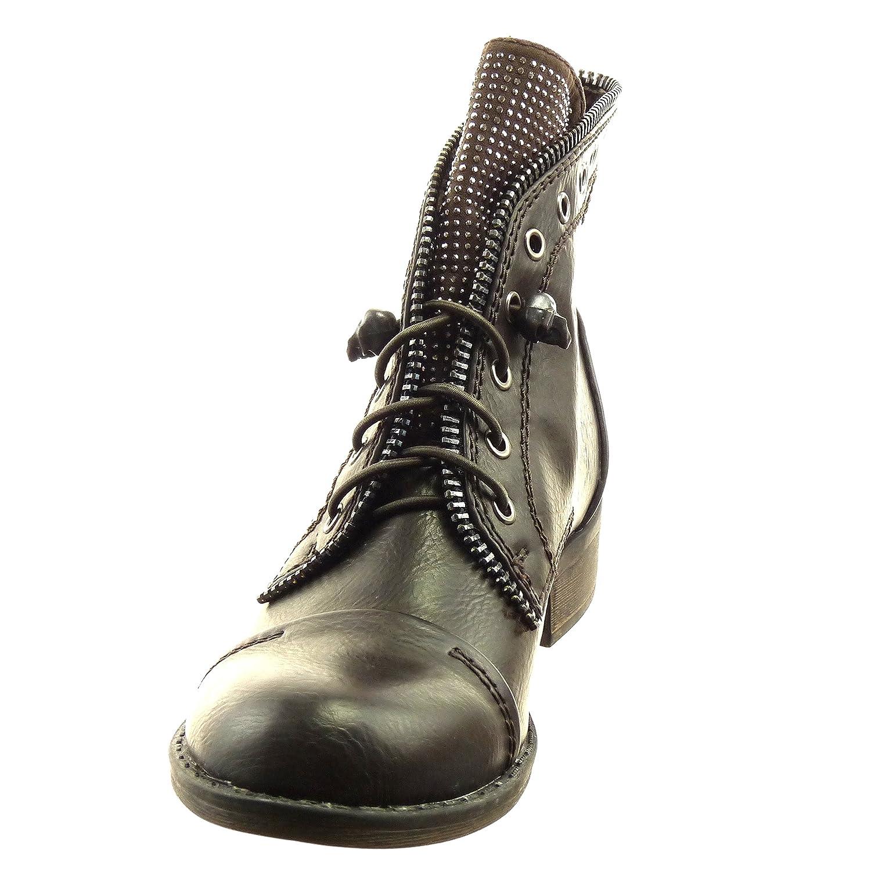 Dqq Mujeres Del Bowknot Glissement Sur Pointu Chaussures Plates, De Couleur Noir, Talla 37 1/3