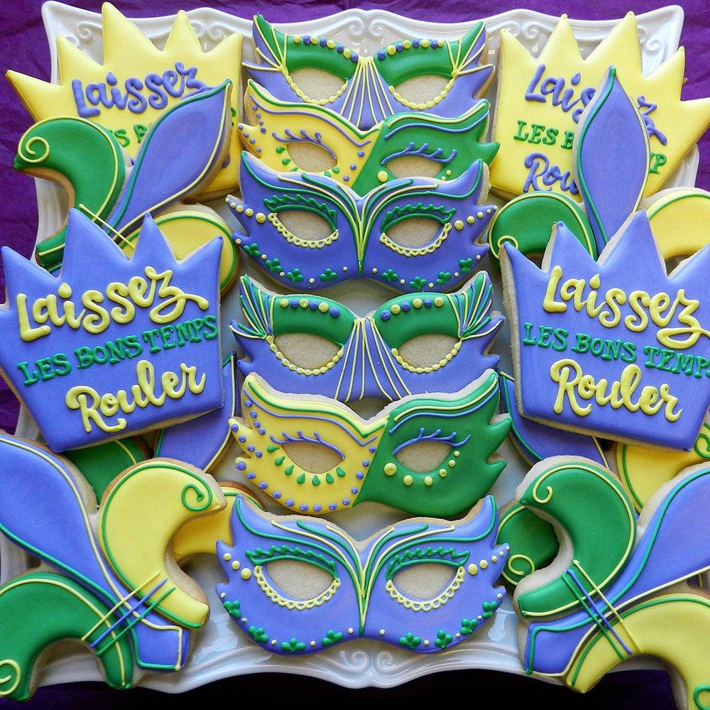 Mardi Gras / New Orleans Cookie Cutter Set - 4 piece - King Crown, Princess Crown, Mask and Fleur de Lis - Ann Clark - Tin Plated Steel by Ann Clark Cookie Cutters (Image #6)