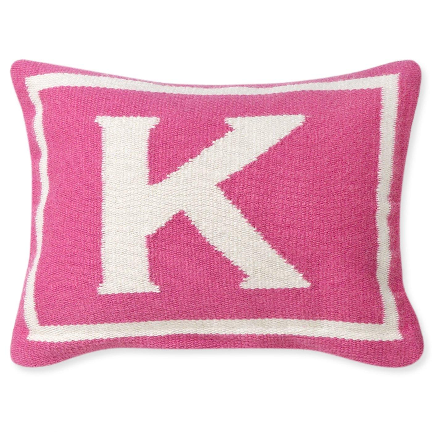 Jonathan Adler Letter Baby Pillow, Pink, Monogrammed K