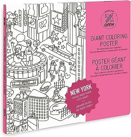 Amazon.com: OMY gigante para colorear Cartel Playmat | Nueva ...