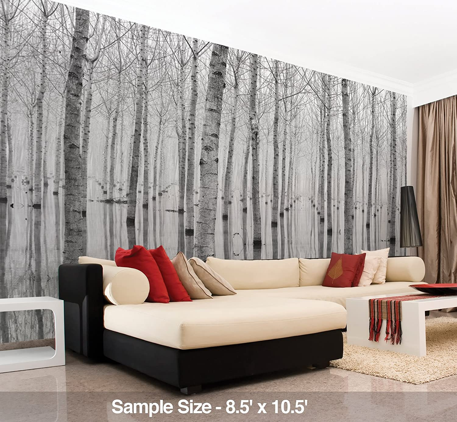 Jplo9|#Jp London MDXL1X392386 Jpl and Joanne/_Flj Present Lakes Secret Reflection Lake Trees Morning 12 Ft Wide by 8.5 Ft High Peel and Stick Fully Removable Wall Mural Extra Large