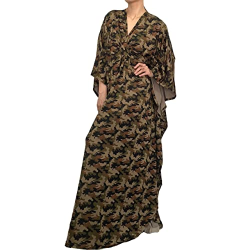 Amazon Com Plus Size Dresses For Women Green Camouflage Party