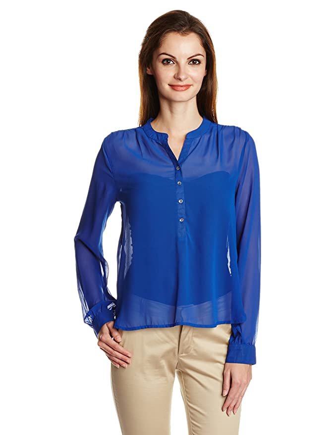 ONLY Women's Button Down Shirt Women's Blouses & Shirts at amazon