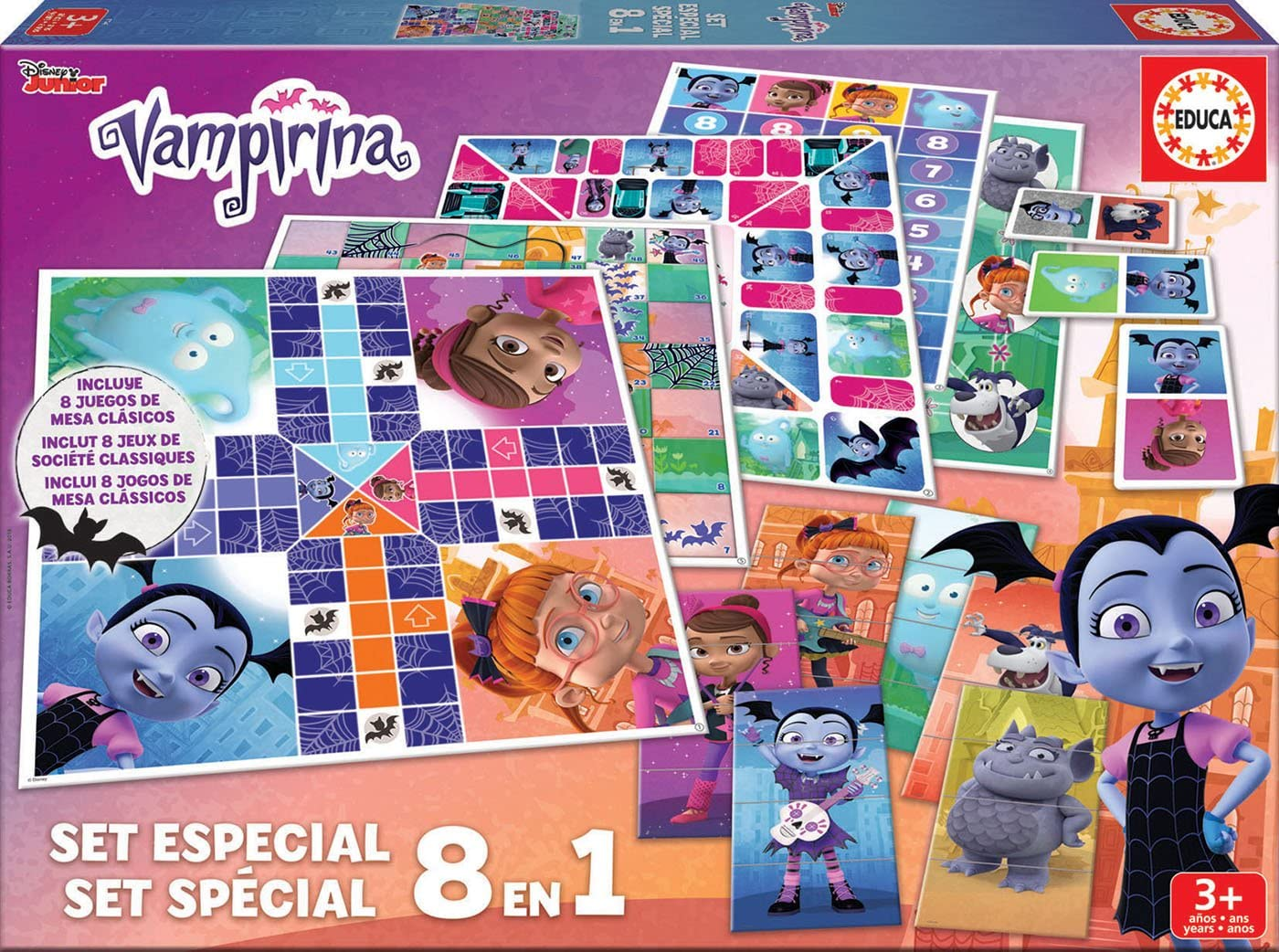 Educa Borrás- Set 8 En 1 Vampirina, Multicolor (17943): Amazon.es ...