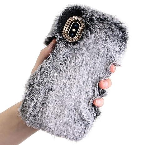 coque iphone 8 plus lapin fourrure