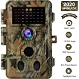 [2020 Upgrade] Trail Camera 16MP 1080P Game Camera with No Glow 65ft Night Vision 0.2s Trigger Time Motion Activated 2.4