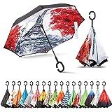 Sharpty Inverted Umbrella, Umbrella Windproof, Reverse Umbrella, Umbrellas for Women with UV Protection, Upside Down…