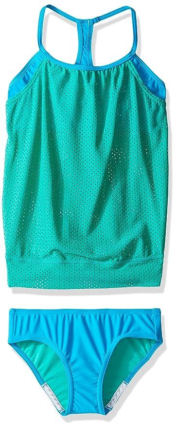 9b2eddb9e0 Speedo Girls Blouson Tankini Two Piece Swim Set, Mint Leaf, Size 7:  Amazon.in: Sports, Fitness & Outdoors
