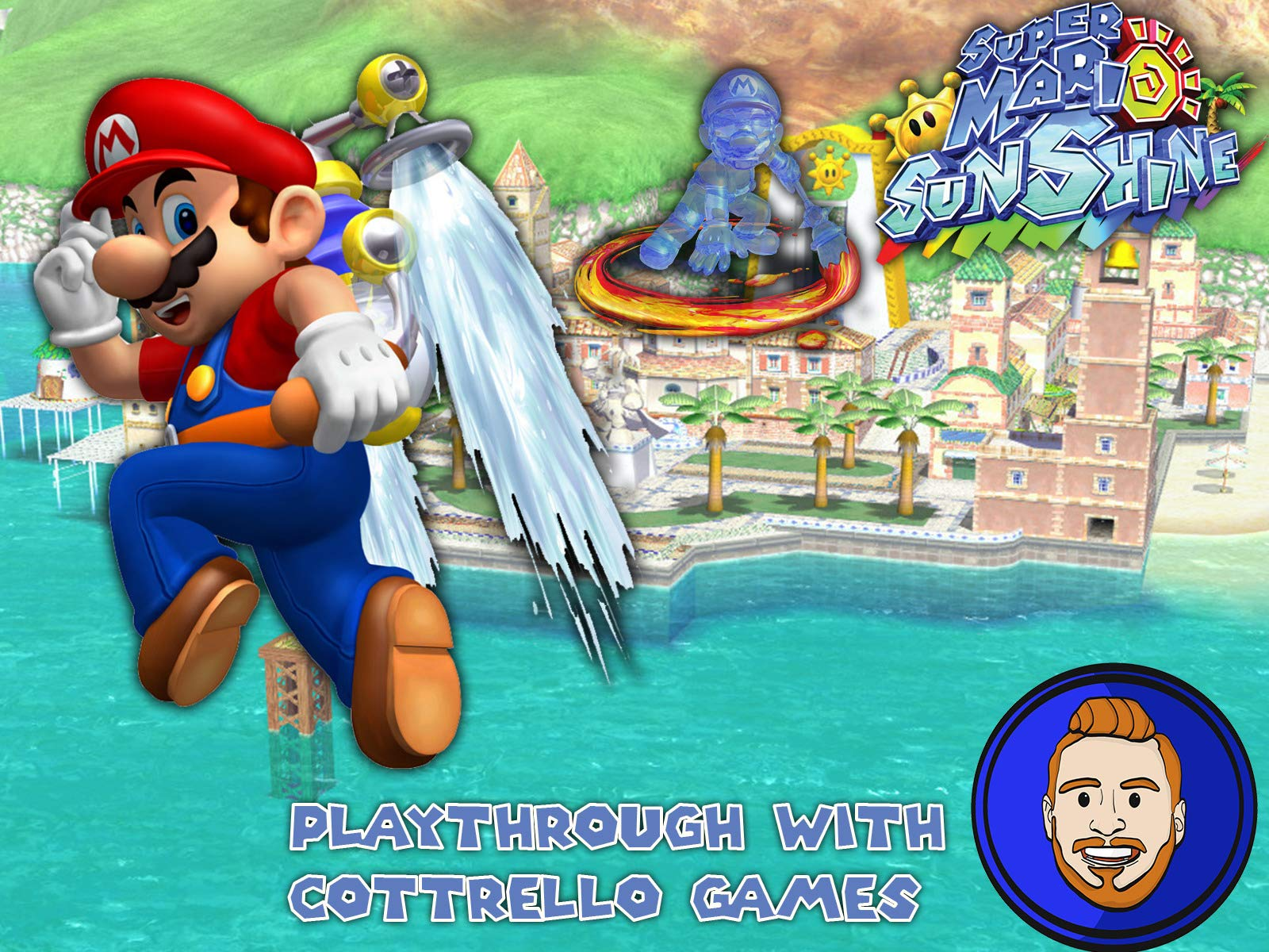 Super Mario Sunshine Playthrough with Cottrello Games