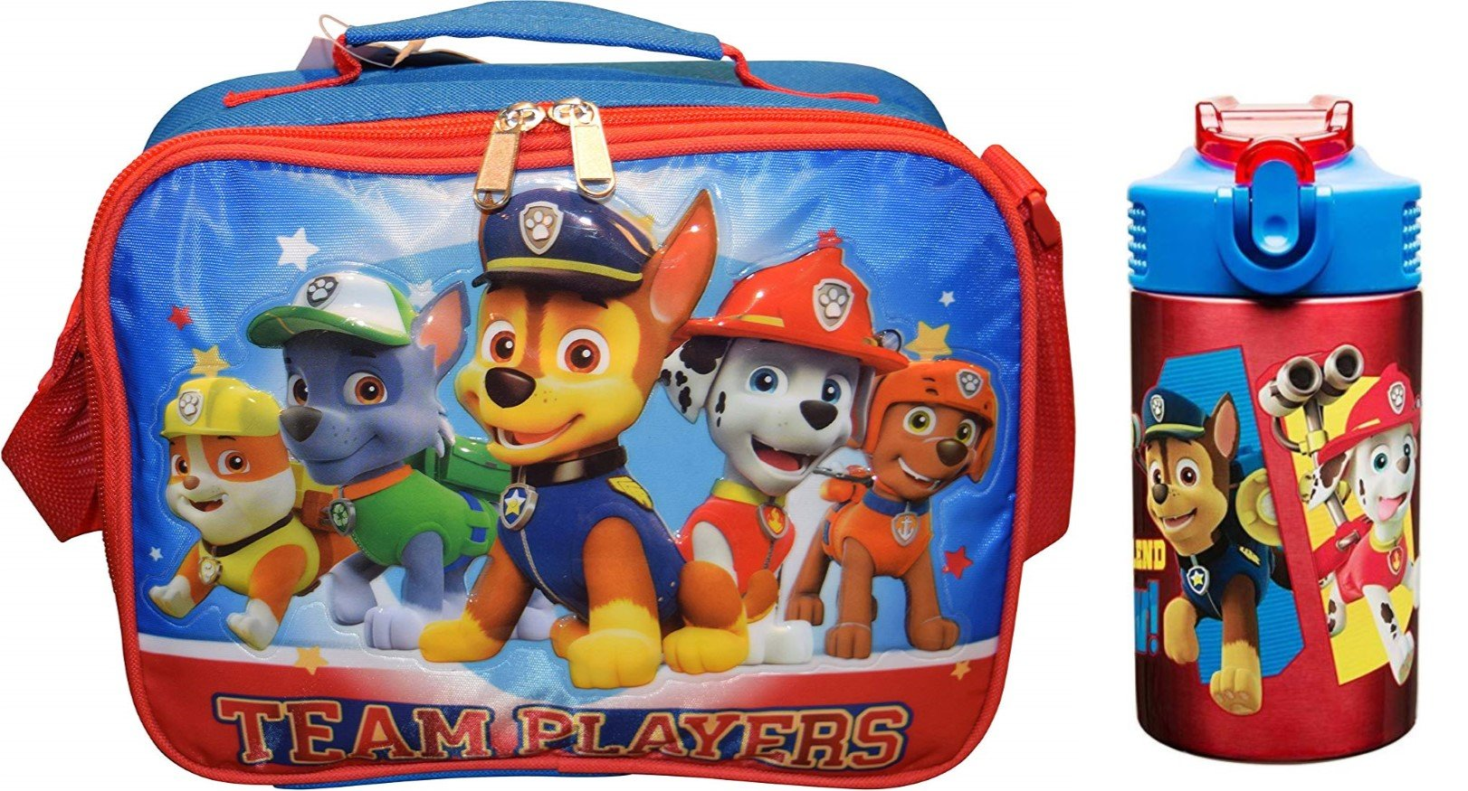 Paw Patrol Insulated Lunch Tote PLUS Stainless Steel Drink Bottle