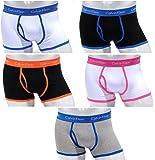 Calvin Klein 365 Men's Low Rise Cotton Boxer Shorts–Pack of 5–Size: S,M,L, XL