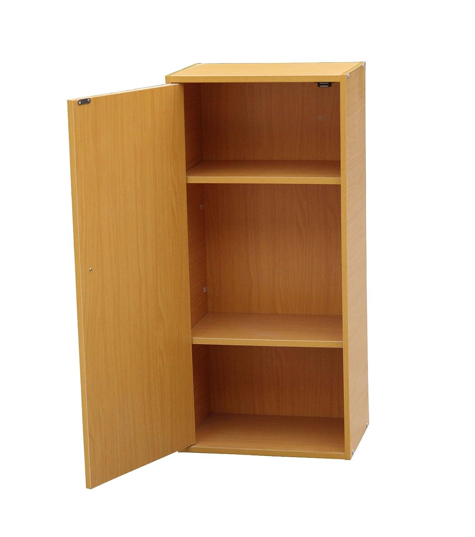Amazon.com: ORE International JW 193 Adjustable 3 Tier Book Shelf With  Door: Kitchen U0026 Dining