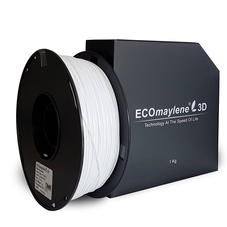 La Salle blanco - ecomaylene3d Pla filamento 3d impresora, 1 kg ...