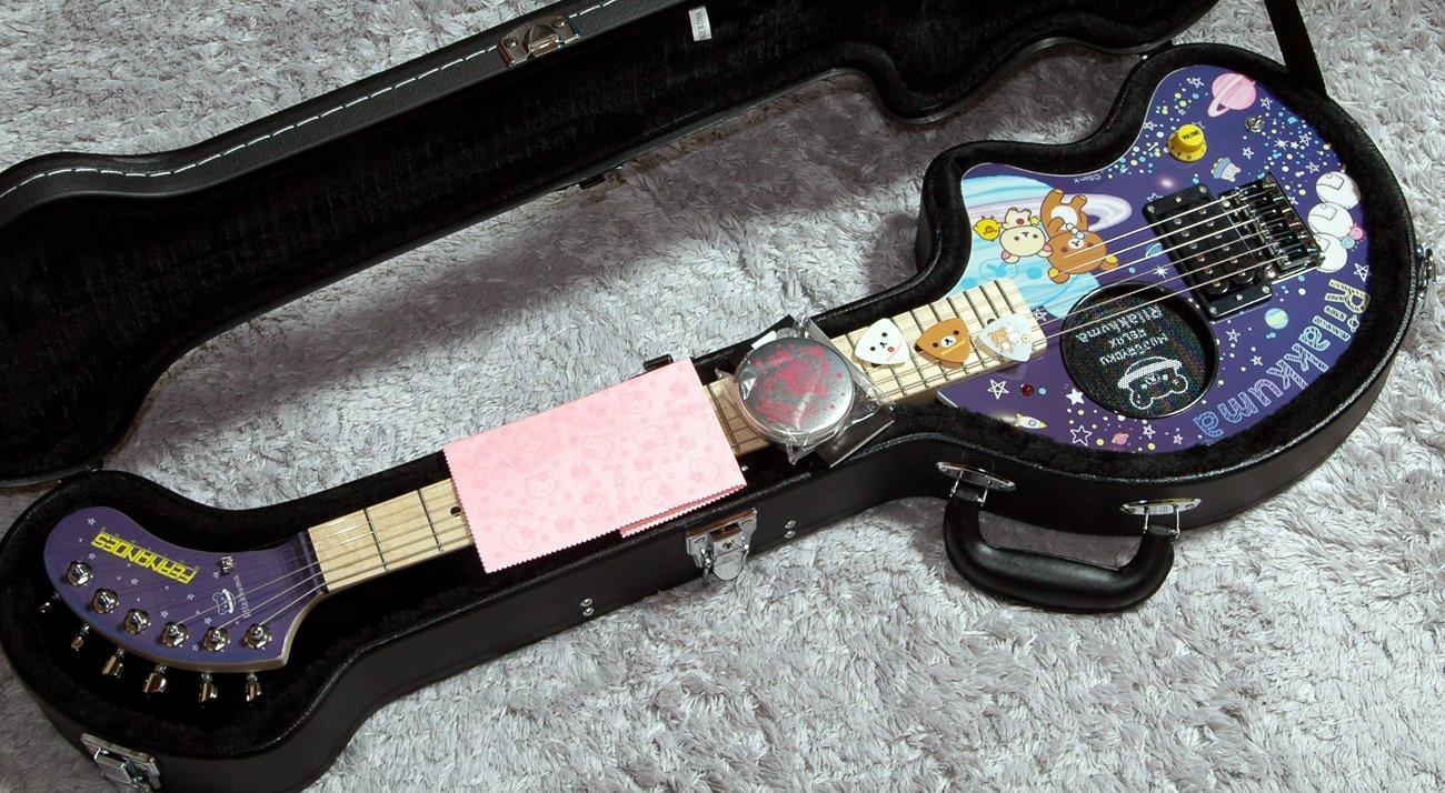 フェルナンデス リラックマ ぞうさんギター Fernandes ZO-3 RK UCHU アンプ内蔵 ミニギター リラックマピック&ピックケース付き ぞうさん専用ハードケースFIT-ZOオマケ B07D81ZYSN
