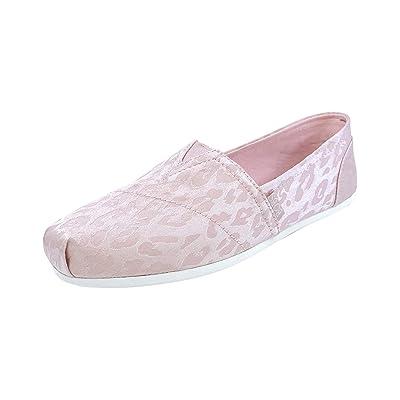 Skechers Women's BOBS Plush - Spring Tiger Slip On Alpargata Flat   Shoes