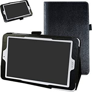 "Acer Iconia One 8 B1-850 Case,Mama Mouth PU Leather Folio 2-Folding Stand Cover with Stylus Holder for 8"" Acer Iconia One 8 B1-850 Android Tablet,Black"