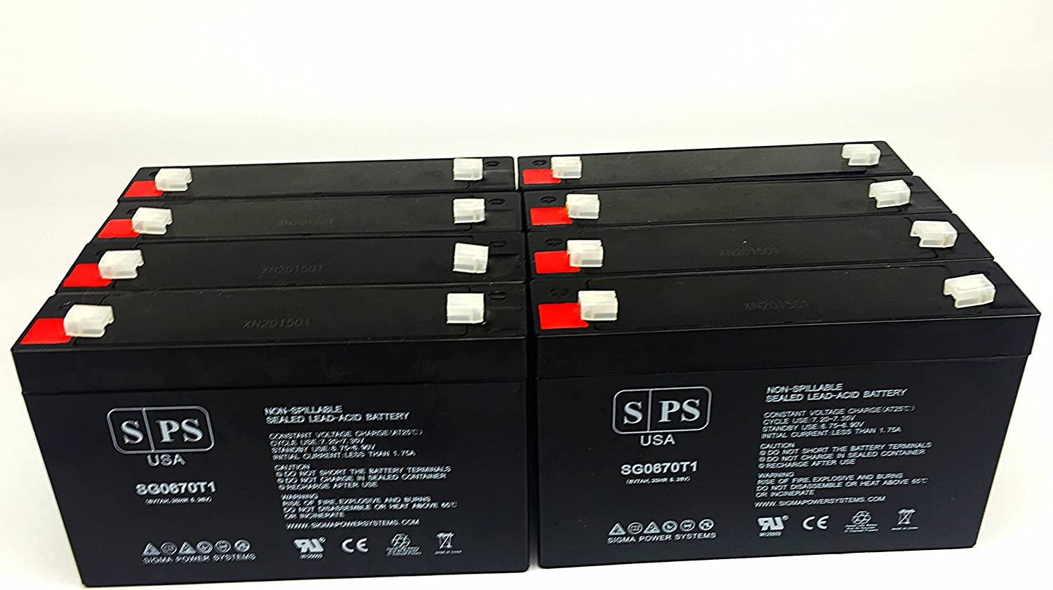 This is an AJC Brand Replacement Ritar RT670 6V 7Ah UPS Battery