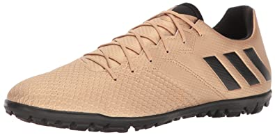 adidas Men's Messi 16.3 Turf Soccer Shoe, Copper Metallic/Black/Solar Green,
