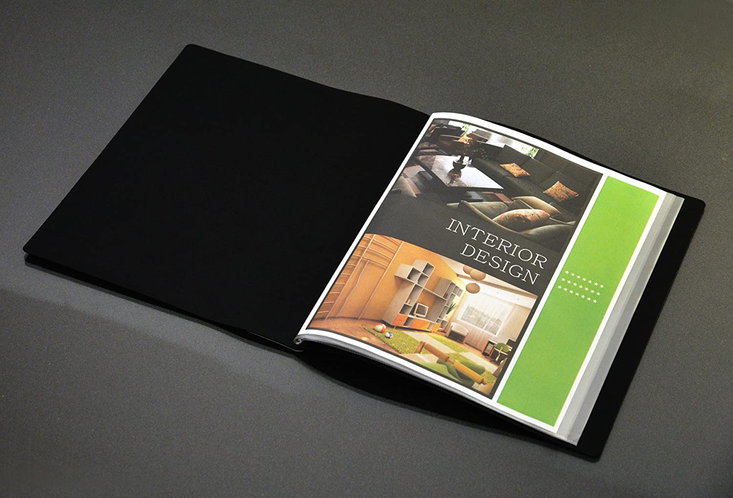 41012-BK Black 1 Book Lion File-N-View Presentation Display Book 12-Pocket