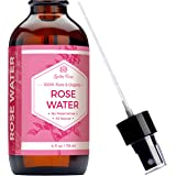 Rose Water Facial Toner by Leven Rose – Pure Organic Natural Moroccan Rosewater Hydrosol Face Spray - 4 oz