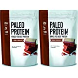 Paleo Protein Double Chocolate Powder (4lbs) (2 Carbs) (30 Servings) (Grass Fed Beef)