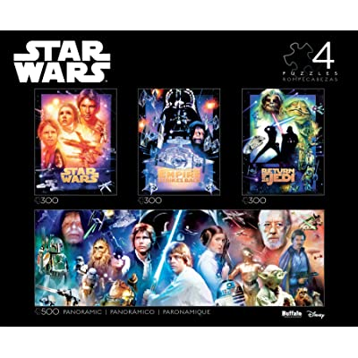 Star Wars - Collector's Edition 4-in-1 Jigsaw Puzzle Multipack: Toys & Games