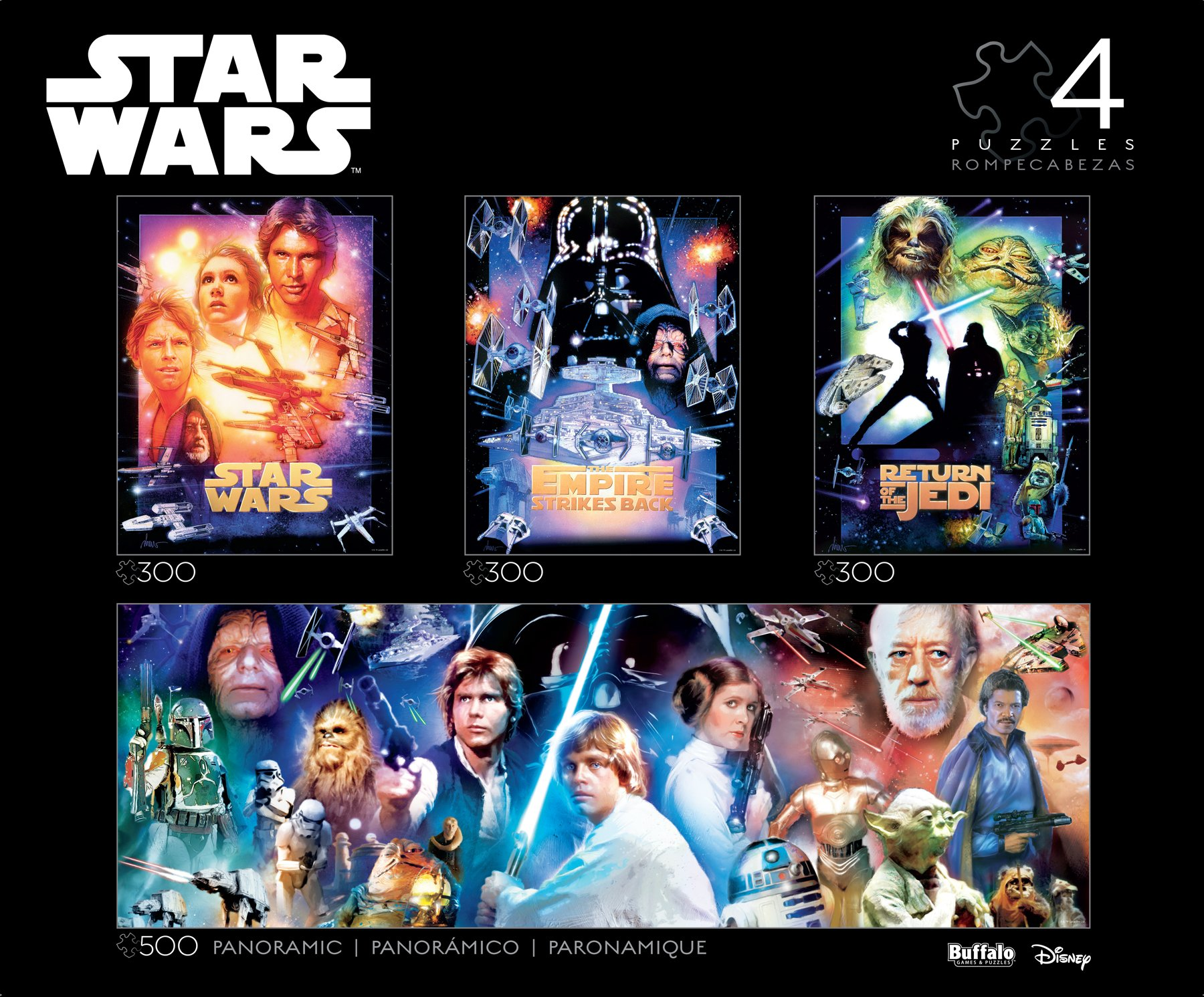 Buffalo Games Star Wars - Collector's Edition 4-in-1 Jigsaw Puzzle Multipack