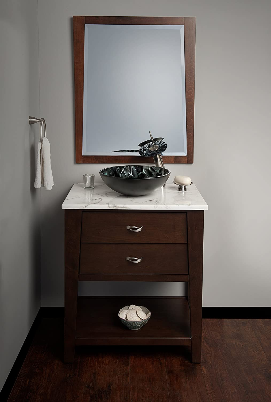 Novatto TARTARUGA Glass Vessel Bathroom Sink NOHP-G012