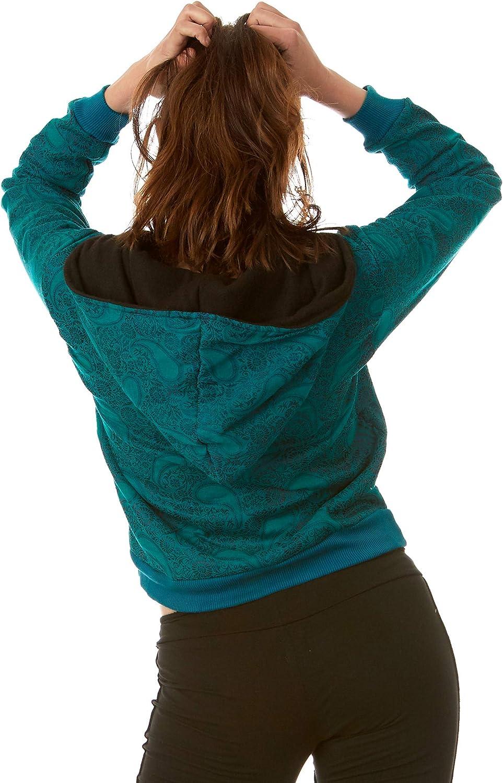 Altshop UK Damen Kapuzenpullover Brokat Paisley Grün