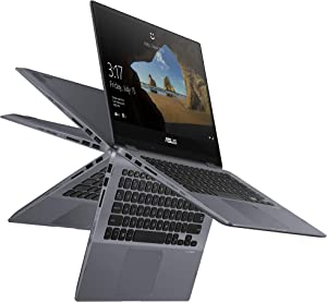 """ASUS Vivobook Flip TP412FA-DS51T-CA 14"""" Touchscreen Convertible 2-in-1 Intel Core i5 10th Gen 10210U (1.60 GHz) 8GB DDR4 256GB PCIE G3x2 SSD Convertible 2-in-1 Laptop Windows 10 (Renewed)"""