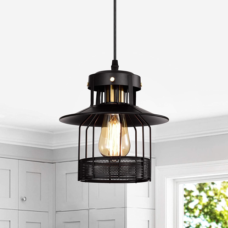 Elli Riz Industrial Pendant Light E26 Base Vintage Hanging Pendant Lights Retro Pendant Light Fixture Home Kitchen Lighting 1 Pack Amazon Com