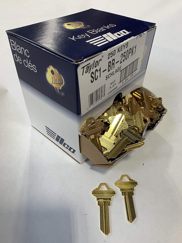 250 Pack SC4-BR-250PK ILCO SC4 Schlage Key Blanks