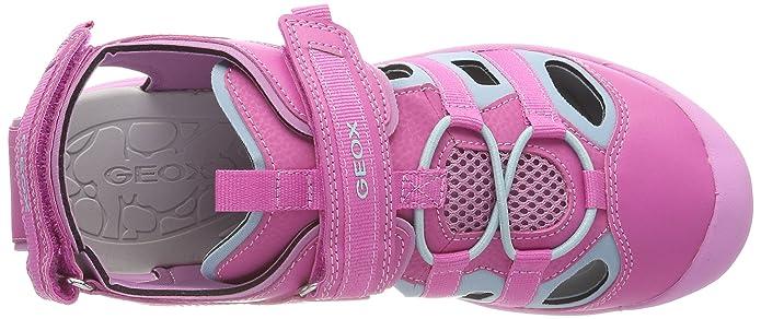 Geox Girls' J Gleeful Closed Toe Sandals, Blue (AvioViolet