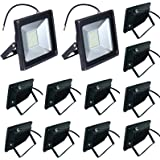 10-Pack 50W LED Floodlight,Low-energy Warm White Spotlight,IP65 Waterproof Outdoor&Indoor Security Flood Light Landscape Lamp