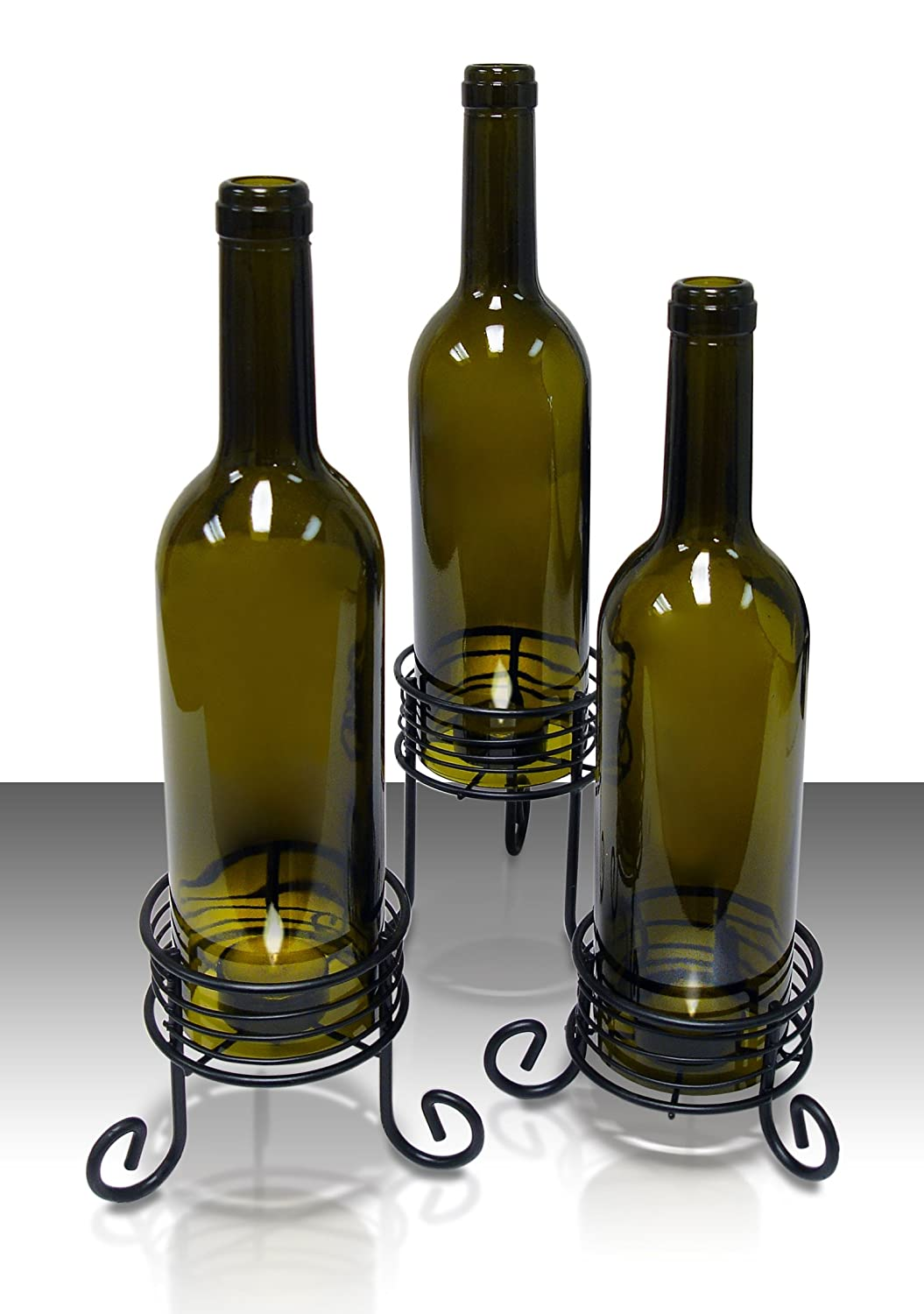 Candle Holders For Wine Bottles Design Decoration