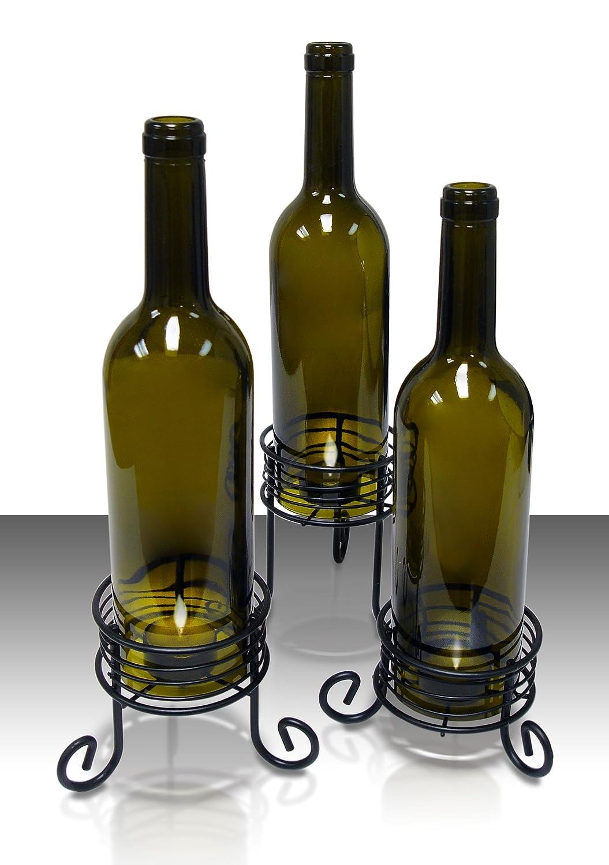 Candle holders for wine bottles design decoration for Wine bottle crafts for sale