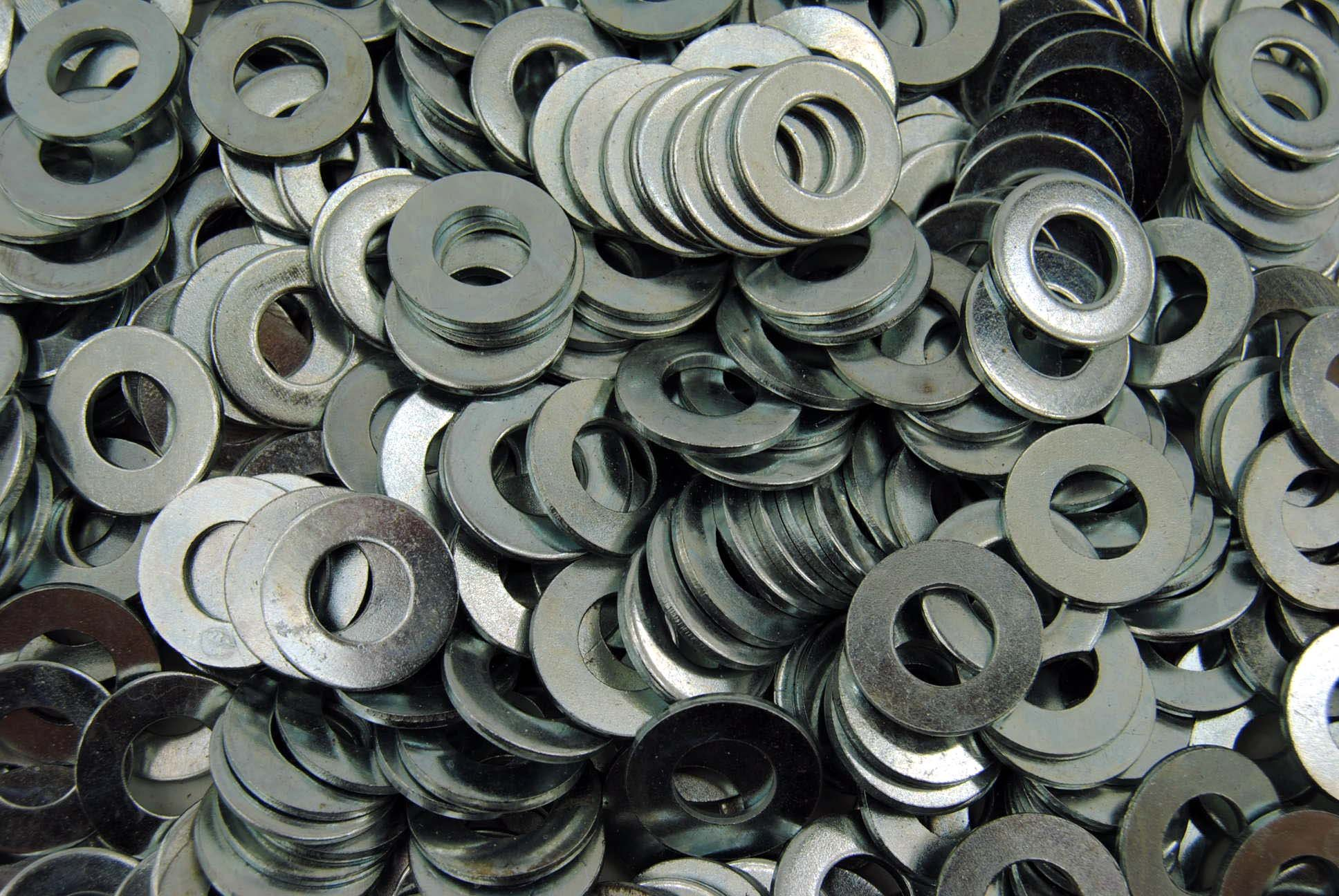 50 Lb Box 3/8 SAE Flat Washer - Zinc Plated - Approx. 7,000 pcs Bulk