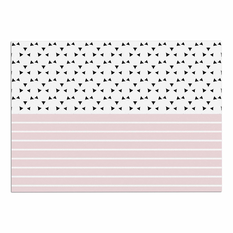 KESS InHouse Trebam Razni  Pink Black Dog Place Mat, 13  x 18