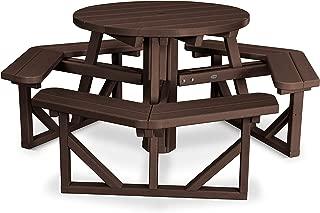 "product image for POLYWOOD PH36MA Park 36"" Round Picnic Table, Mahogany"