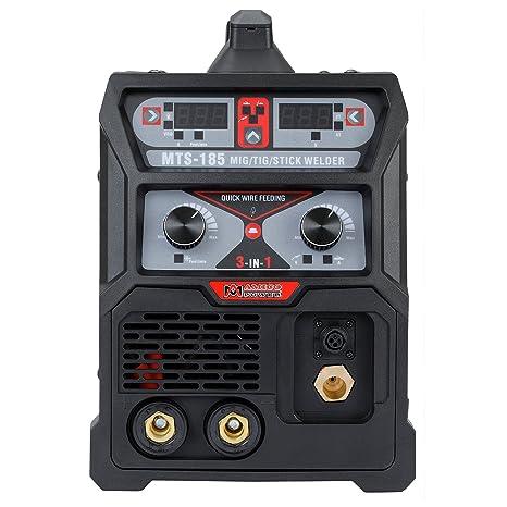 MTS-185, 185 Amp MIG TIG-Torch Stick Arc Combo Welder, Weld Aluminum(MIG) 110/230V Dual Voltage Welding New