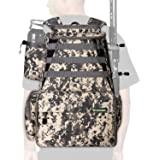 Rodeel Fishing Tackle Backpack 2 Fishing Rod Holders with/Without 4 Tackle Boxes, Large Storage,Backpack for Trout…
