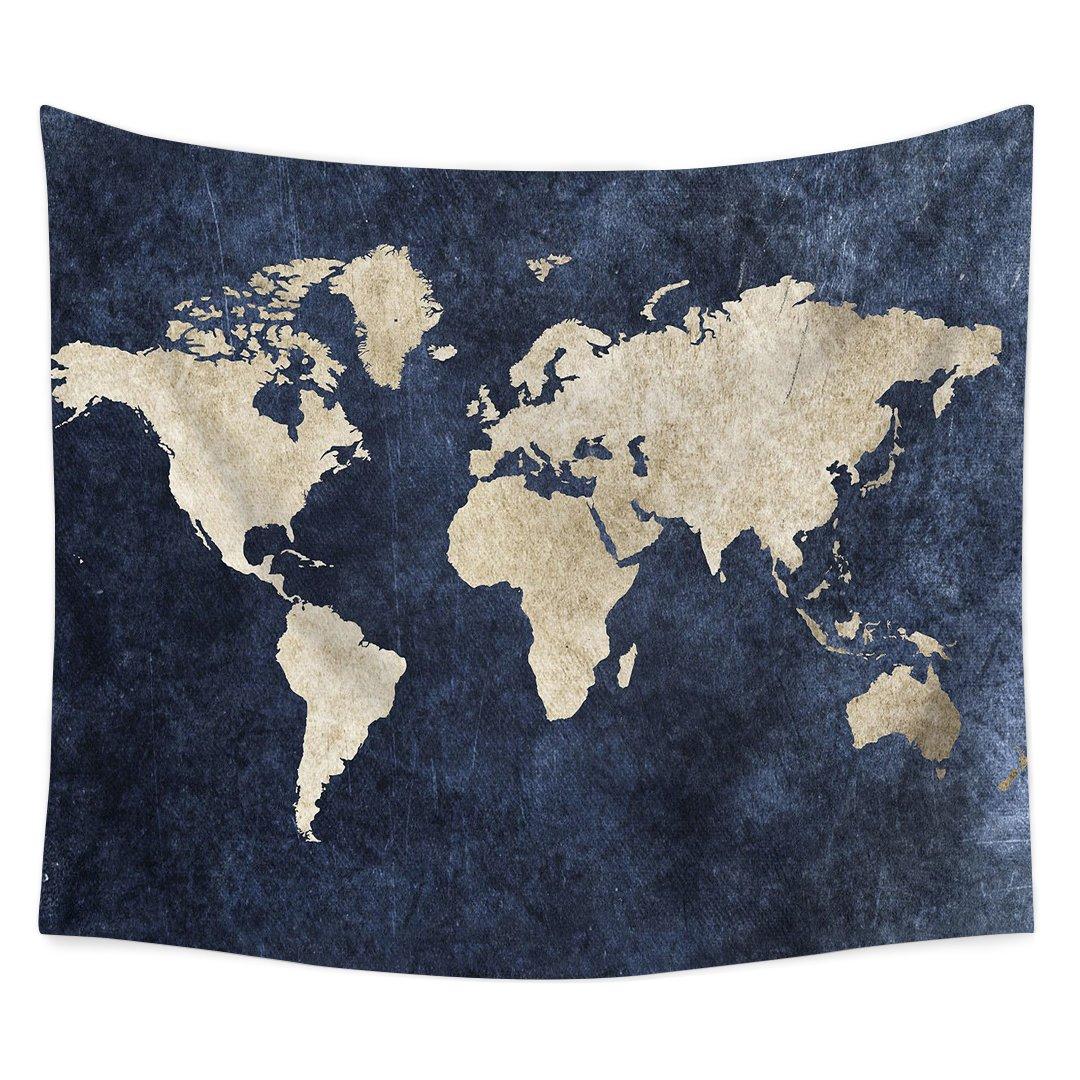Amazon.com: YQ Park Art World Map Flag Print Hanging On The ...