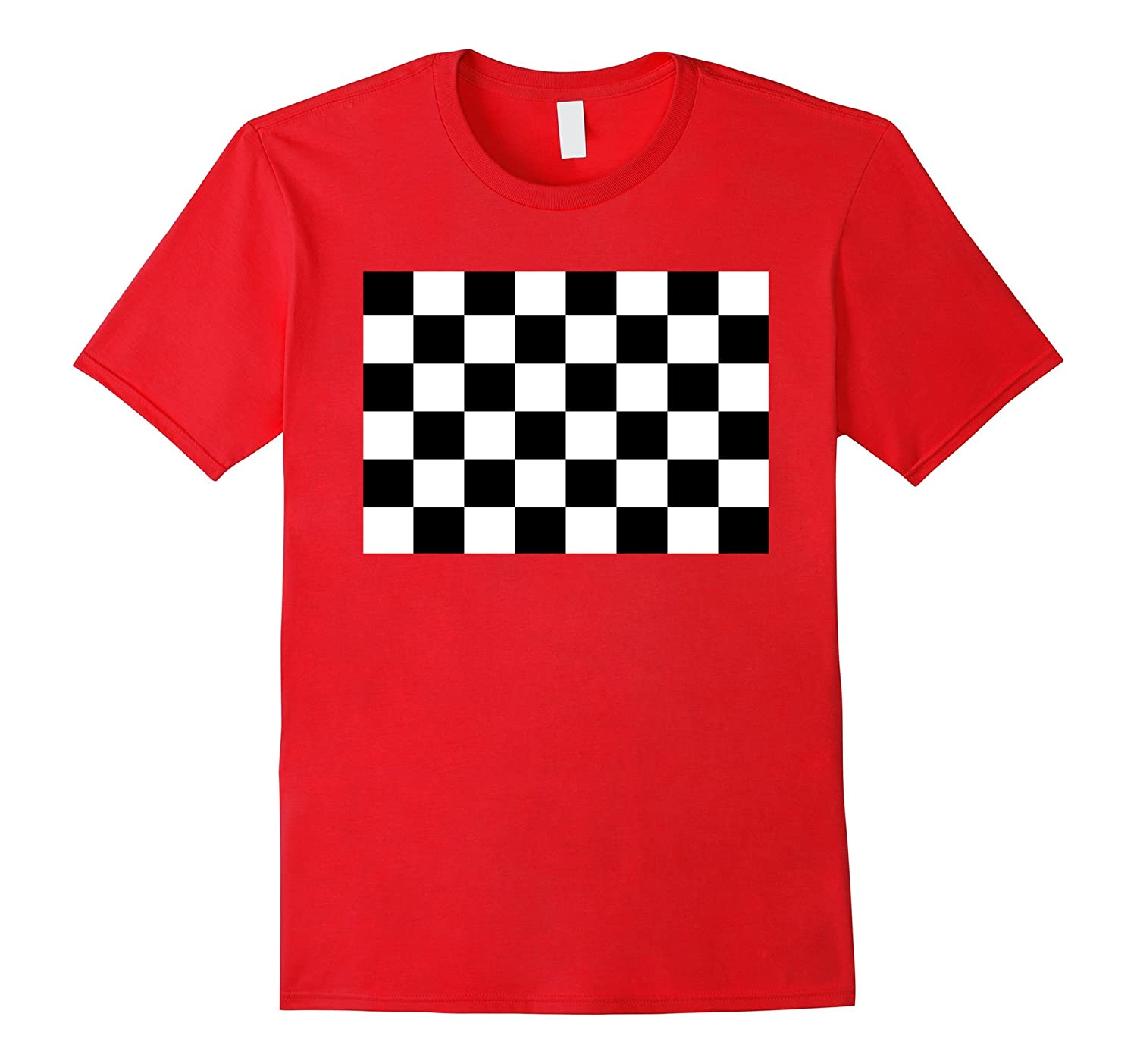 Dicky Ticker Checked Flag T-shirt Racing Cars-Vaci
